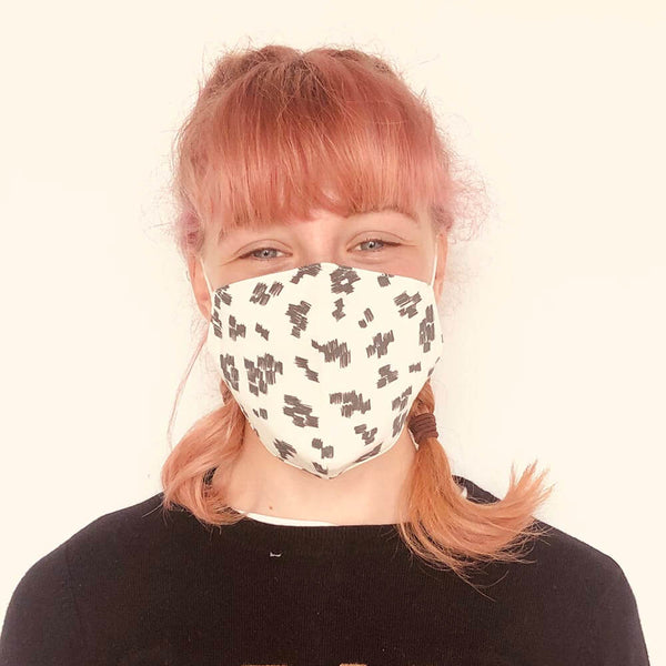 FACEMASK - organic cotton- MONOCHROME print - The bonniemob