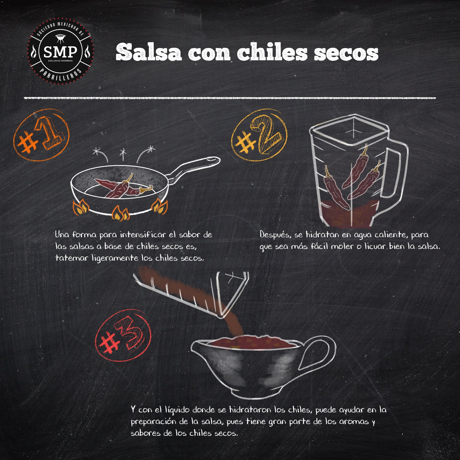 Salsa con chiles secos