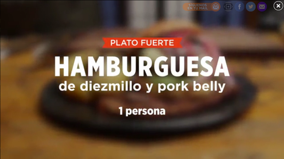 HAMBURGUESA DE DIEZMILLO Y PORK BELLY | SMP