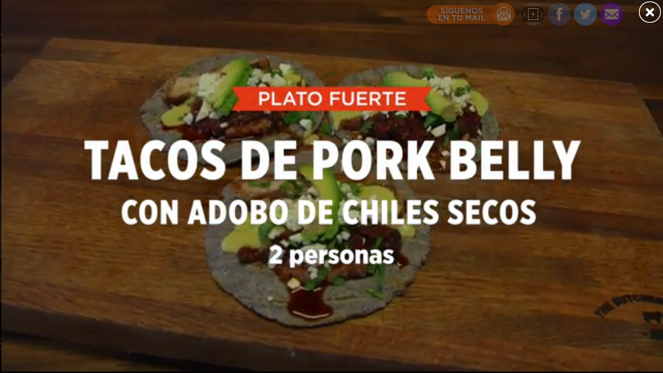 TACOS DE PORK BELLY CON ADOBO DE CHILES SECOS | SMP