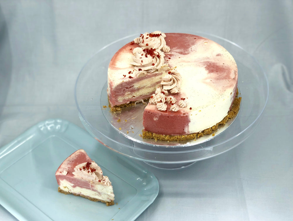 New Strawberries & Cream Ice Cream Cake