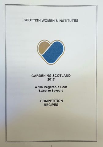 Gardening Scotland 2017 - 1Lb Vegetable Loaf sweet or savoury