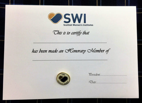 SWI Honorary Badge & Certificate