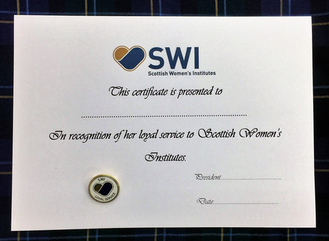 SWI Loyal Service Badge & Certificate
