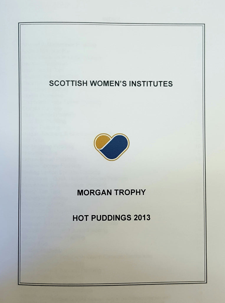 Morgan Trophy - Hot Puddings Recipe Book