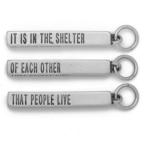 "it is in the shelter of each other that people live Invite students to make a group of three introduce the activity: in your group of three, two people represent a ""shelter"" (they face each other and raise their."