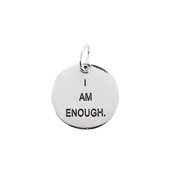 Medium circle pendant | I am enough