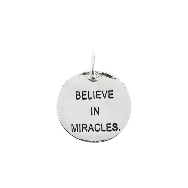 Medium circle pendant | Believe in miracles