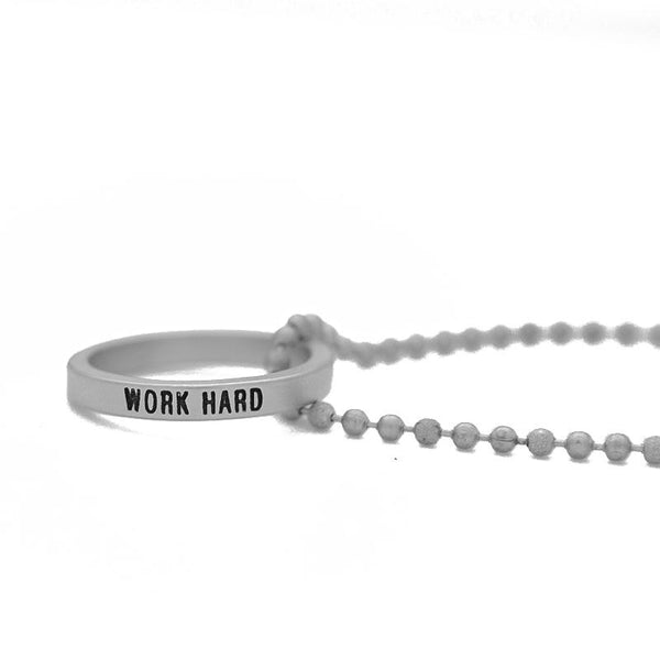 Ring Necklace | Work Hard | 36""