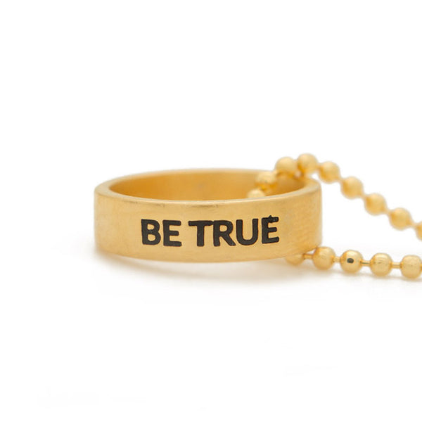 Ring Necklace | Be True | 36""