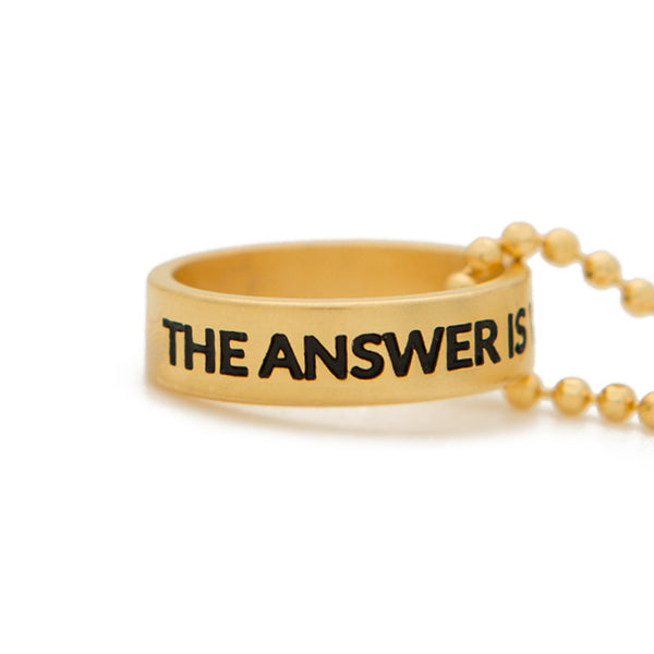 Ring Necklace | The Answer Is Within | 36""