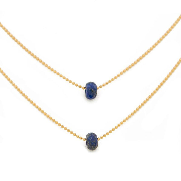 "FIND VISION. Layered Necklace, Lapis Lazuli - 15-17"", Gold"