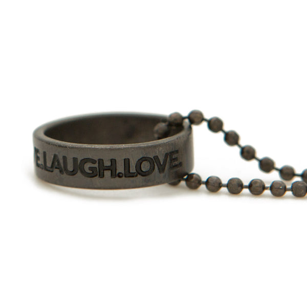 Ring Necklace | Live.Laugh.Love | 36""