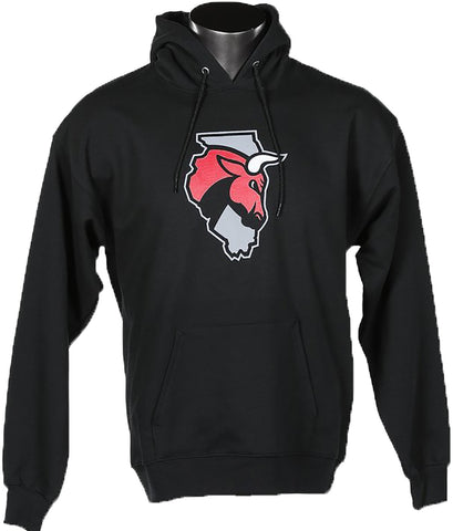 Men's Secondary Logo Black Hoodie