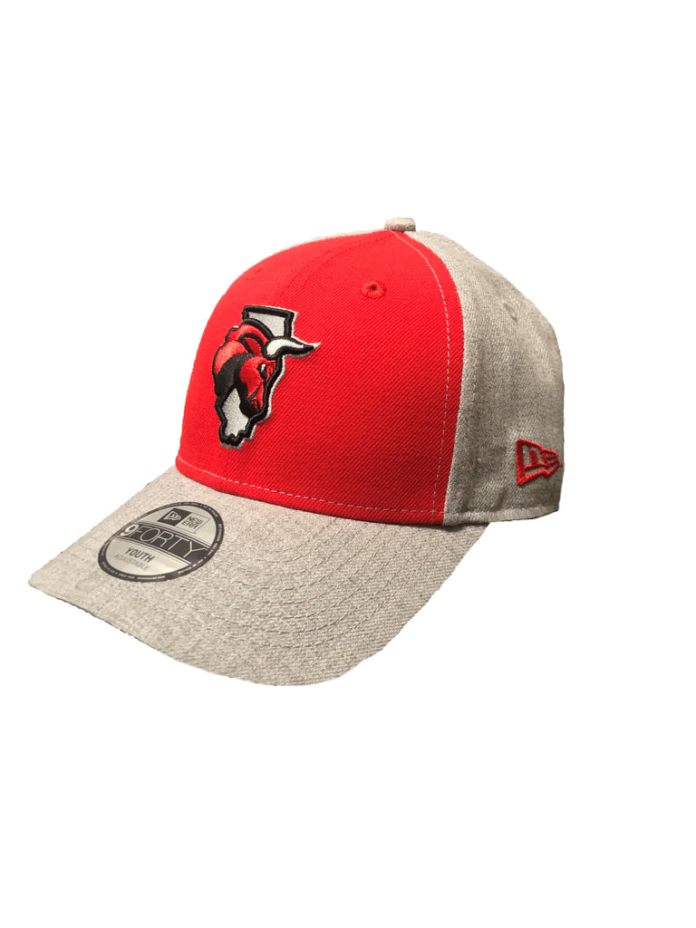 New Era Youth Secondary Logo Red/Gray Cap