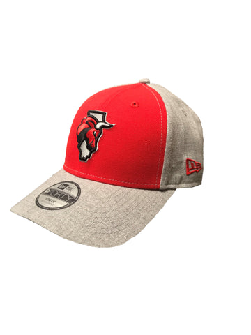 New Era Youth Adjustable Red/Gray Secondary Logo