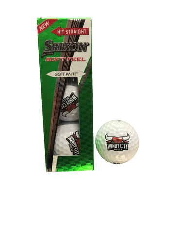 Windy City Bulls Golf Balls
