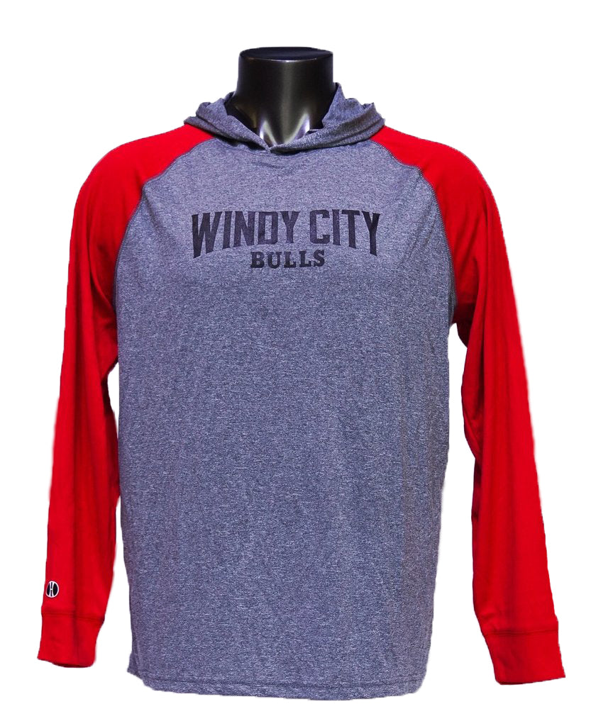 WCB Men's Echo Hoodie (Grey/Red)