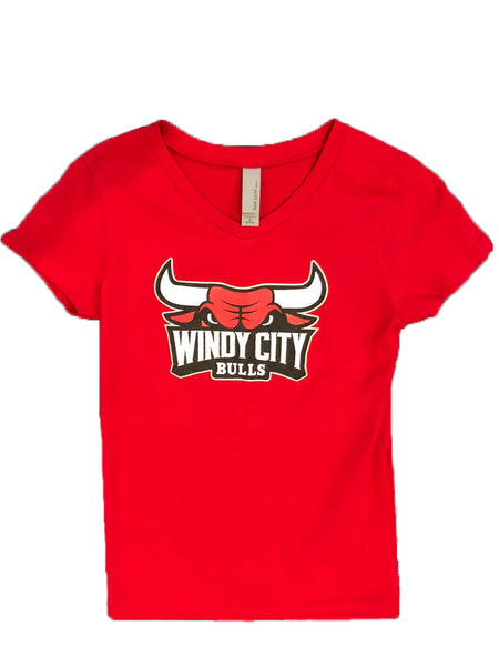 Youth Girls Primary Logo Tee - Black or Red