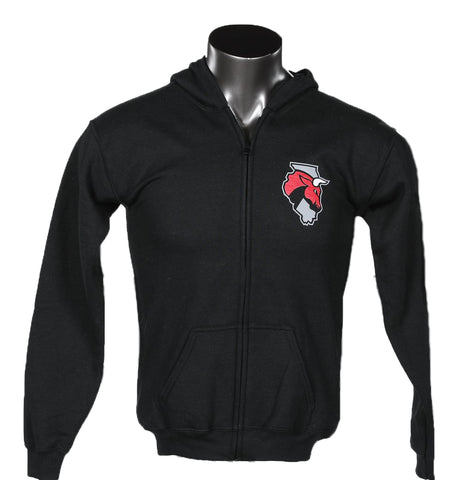 Youth Secondary Logo Full Zip Hoodie - Black