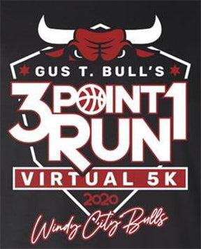 Gus T. Bulls's 3 Point 1 Run Virtual 5K  (No T-Shirt)
