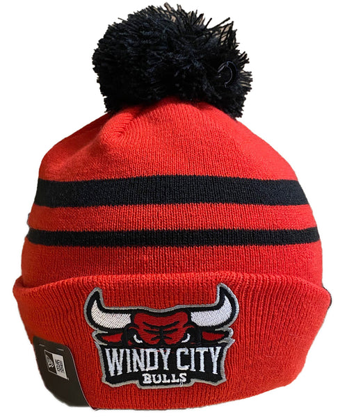 WCB Red Striped Winter Hat