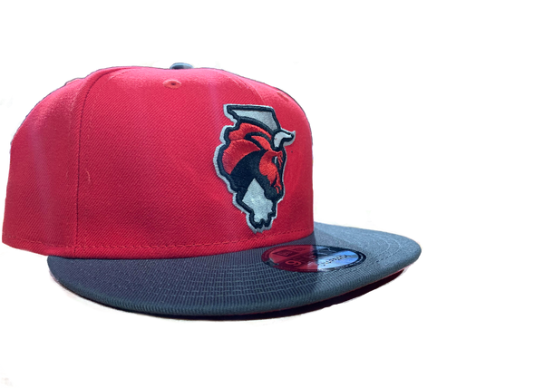New Era Secondary Logo Red/Gray Snapback