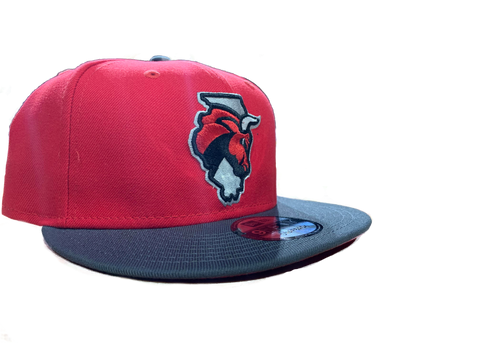 New Era Snapback Red/Gray Secondary Logo 2019-20