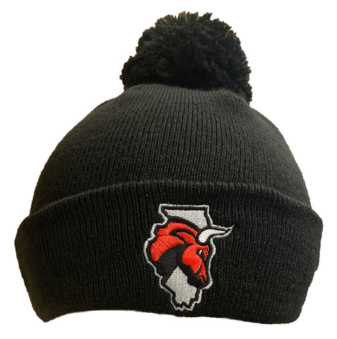 New Era Secondary Logo Black Winter Hat