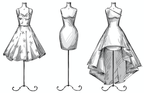 Dress Forms with Dresses