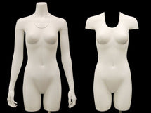 Invisible Ghost Mannequin Female Torso w/ Base MM-TFWIV