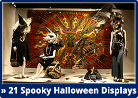 Halloween Display Window Designs