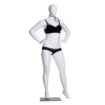 Plus Size Female Egghead Mannequin MM-F3D02W