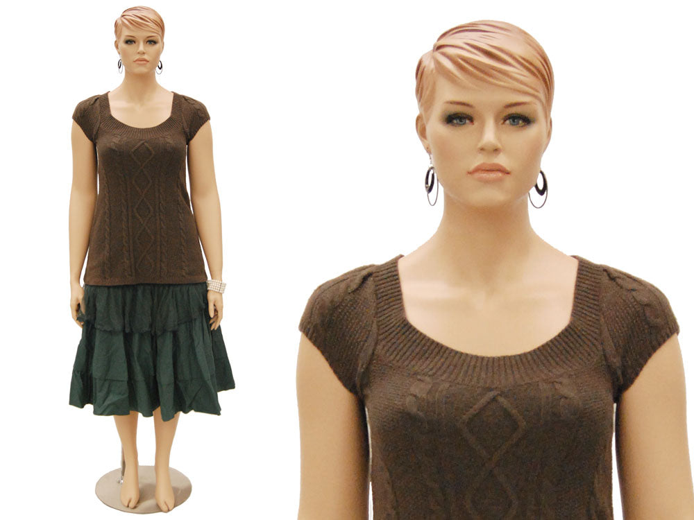 "6'1"" Realistic Plus-Size Female Mannequin MM-AVIS1"