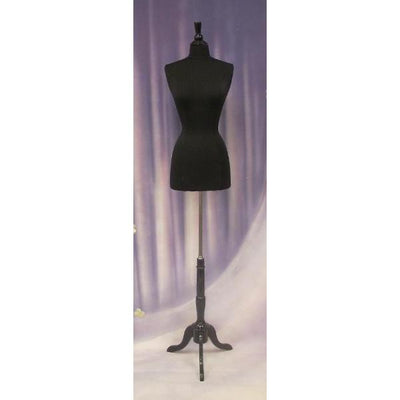 Best Seller 14/16 / Black Wood / Black Form Female Dress Form with Tripod Wooden Base For Fashion Stores and Retail Shops