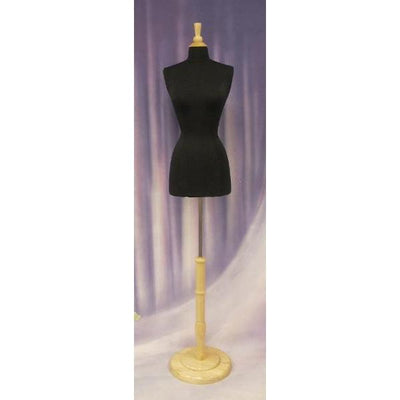Best Seller Black / 2/4 Female French Dress Form With Round Base MM-FFDRB For Fashion Stores and Retail Shops