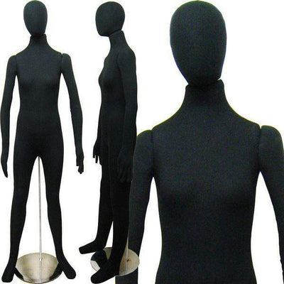 "Best Seller Black 5'10"" Flexible Female Mannequin MM-FSOFTEE For Fashion Stores and Retail Shops"
