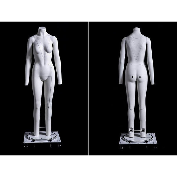Male Model Bust Torso Body Dress Shape Round Bottom and Wooden Arm Clothing Realistic Display Mannequin 2 Size Color: Beige COAT RACK QAZ~Retail Mannequin