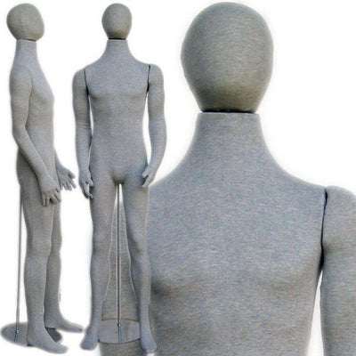 "Best Seller Gray 6'1"" Flexible Male Mannequin MM-SOFTEE For Fashion Stores and Retail Shops"