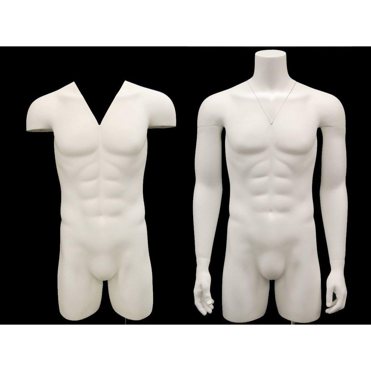 Best Seller Invisible Ghost Mannequin Male Torso w/ Base MM-TMWIV For Fashion Stores and Retail Shops