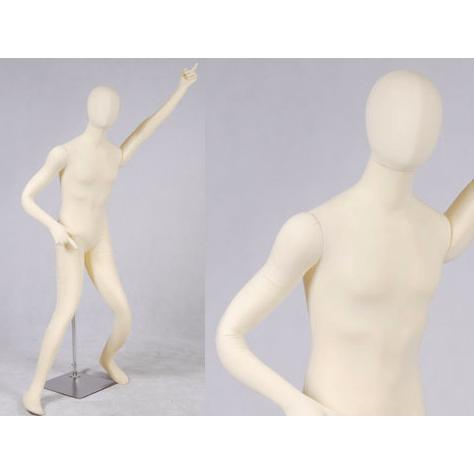 "Best Seller White 6'1"" Flexible Male Mannequin MM-SOFTEE For Fashion Stores and Retail Shops"