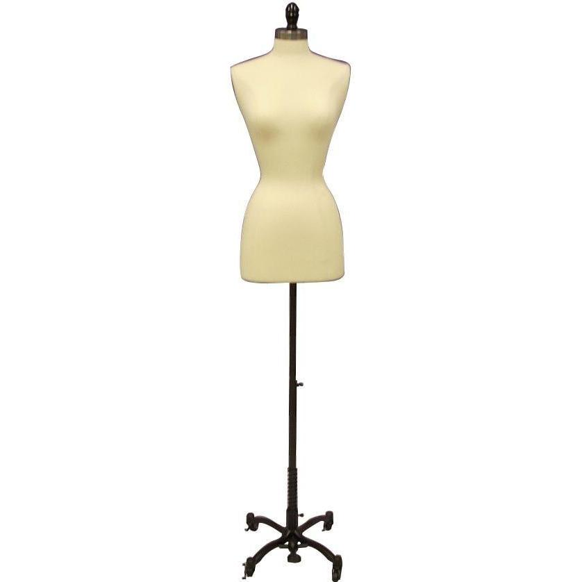 Mannequin Mall 2/4 / White Female Dress Form with Black Rolling Base For Fashion Stores and Retail Shops
