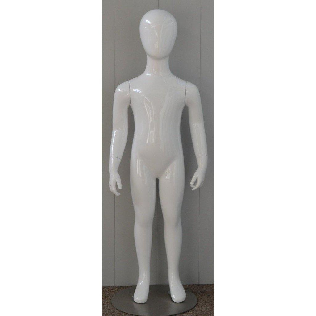 Mannequin Mall 4 Year Old Child Abstract Mannequin MM-CW4YEG For Fashion Stores and Retail Shops