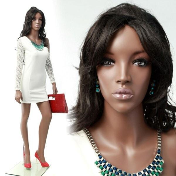"Mannequin Mall 5'10"" African American Mannequin MM-MYA2 For Fashion Stores and Retail Shops"