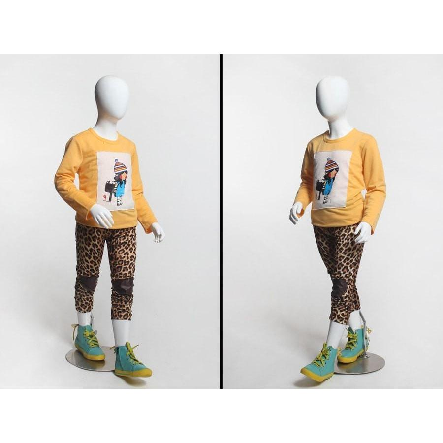 Mannequin Mall 5 Year Old Child Abstract Mannequin MM-CD5 For Fashion Stores and Retail Shops
