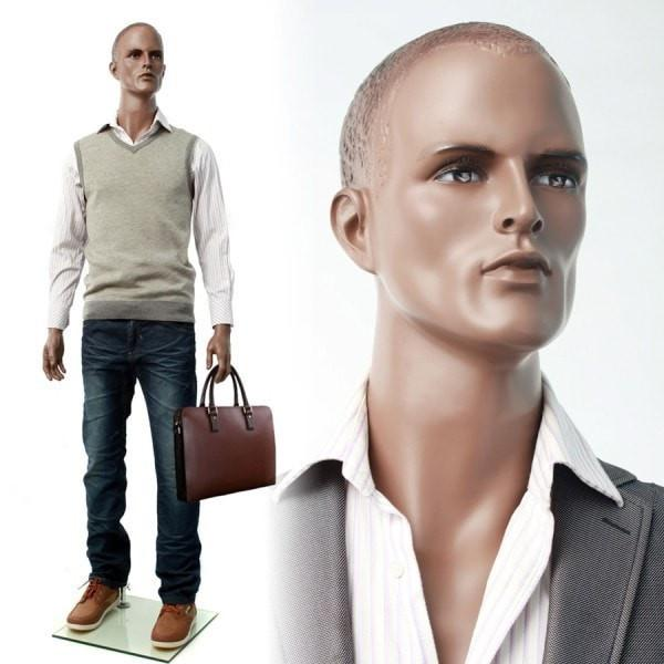 "Mannequin Mall 6'1"" African American Male Mannequin MM-ZEKE1 For Fashion Stores and Retail Shops"