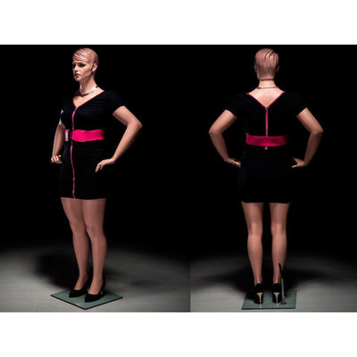 "Mannequin Mall 6'1"" Realistic Plus-Size Female Mannequin MM-AVIS2 For Fashion Stores and Retail Shops"