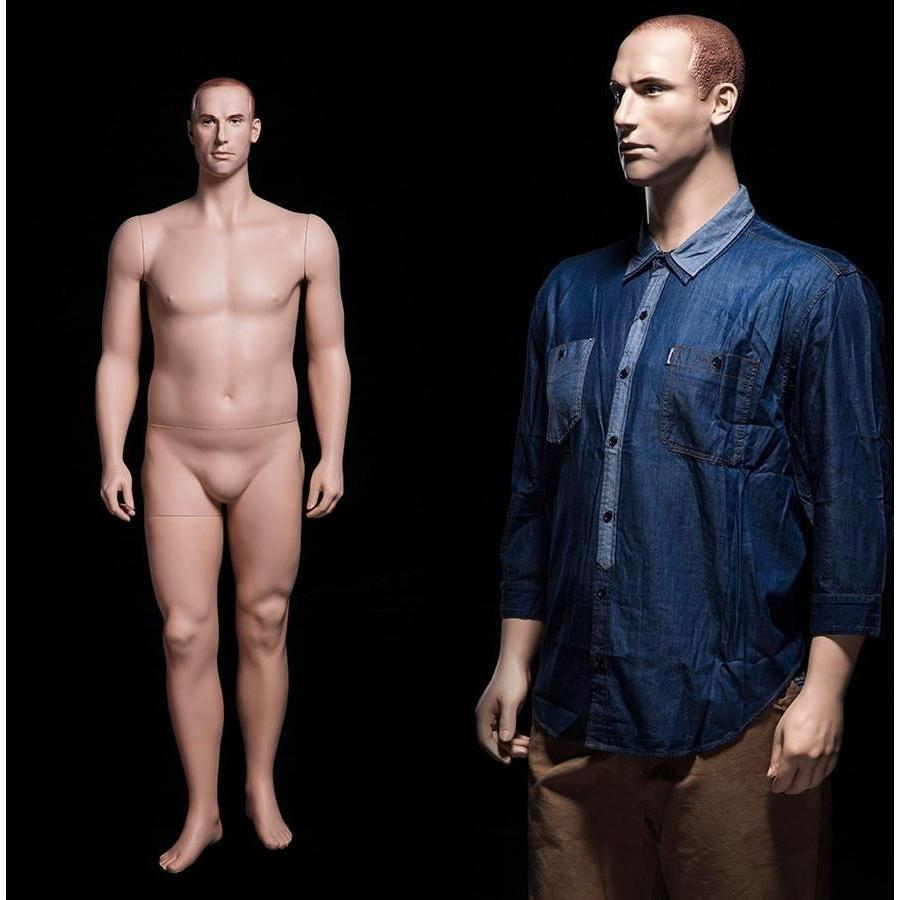 "Mannequin Mall 6'3"" Plus Size Male Mannequin MM-PMAN2 For Fashion Stores and Retail Shops"