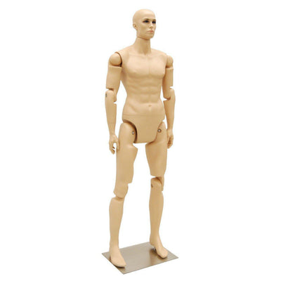 Mannequin Mall 6' Realistic Posable Male Mannequin MM-MFXF For Fashion Stores and Retail Shops