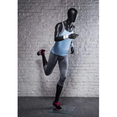 Mannequin Mall Athletic Black Female Running Mannequin MM-PB4BK2 For Fashion Stores and Retail Shops